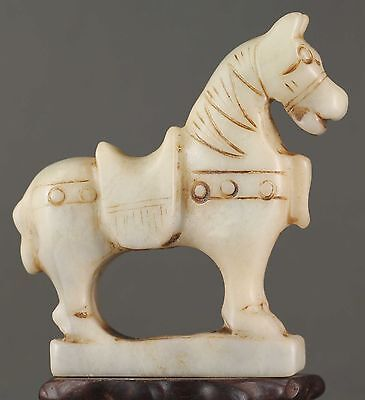 China old jade hand-carved statue of horse very fine NO.X565