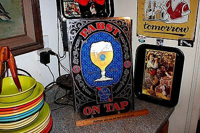 Vintage Pabst Blue Ribbon Beer Plastic Bar Sign