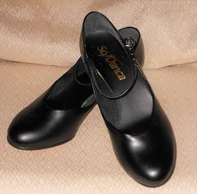 Ladies Nib So Danca Ch50-M Black Shoes New Character Size 6M