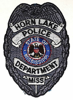 """HORN LAKE MISSISSIPPI MS Police Sheriff Patch STATE SEAL EAGLE 3.5"""" ~"""