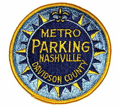 NASHVILLE - METRO PARKING -TENNESSEE TN Police Sheriff Patch DAVIDSON COUNTY OLD