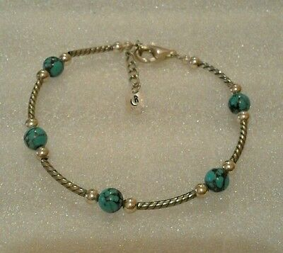 Carolyn Pollack Relios Silver And Turquoise Bracelet