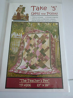 Take 5 Gets The Point Quilting Pattern By The Teachers Pet