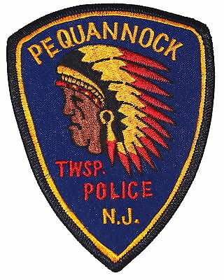 PEQUANNOCK TOWNSHIP TWP NEW JERSEY NJ Police Sheriff Patch INDIAN NATIVE AMERICA