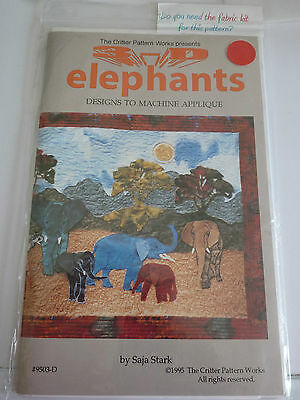 Critter Pattern Works 3 D Elephants Quilt Or Wallhanging Pattern - New