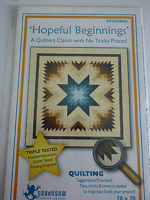 Hopeful Beginnings Quilting Pattern By Toadusew - New