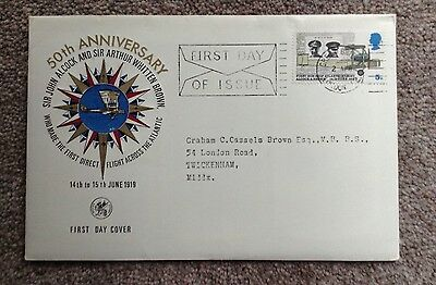 50th Anniversary, Alcock and Brown, First Day Cover.