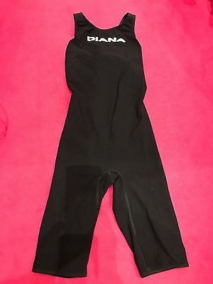 Italian Ladies Black Racing Swim Suit - Diana. Size 28