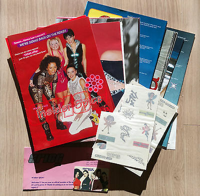 Spice Girls Fan Club Insider Spice Memorabilia Collectable Photos Rare 90's Pop