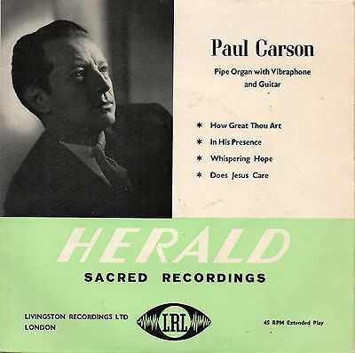 "Record - 7"" vinyl - Paul Carson – Pipe Organ with Vibraphone and Guitar EP"