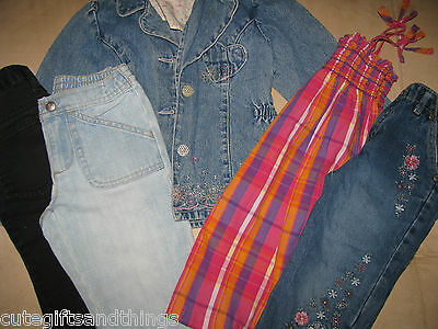 baby girls clothes lot size 4 4T toddler dress jeans capris tops euc #1a