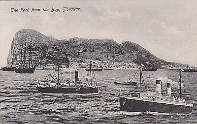 Gibraltar Postcard The Rock From The Bay