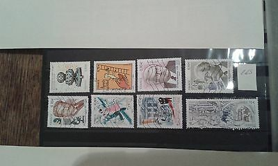 8 Timbres Obliteres Lot 265