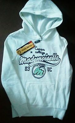 ☆☆☆ Neuf, sweat capuche blanc  ☆ Taille 12 ans ☆☆☆
