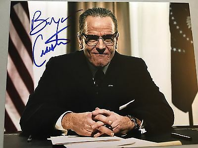 Bryan Cranston Signed 11x14 All The Way  HBO Breaking Bad Proof
