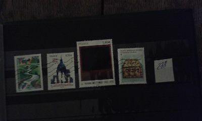 4 Timbres Obliteres Lot 278