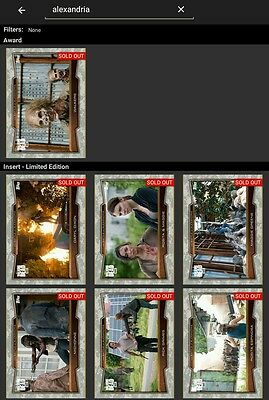 Topps Walking Dead Card Trader Battle of Alexandria tundra complete with award