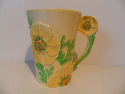 Carlton Ware Art Deco Mug Yellow Buttercup