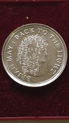 1993 Brian May Back To The Light Sixpence Coin