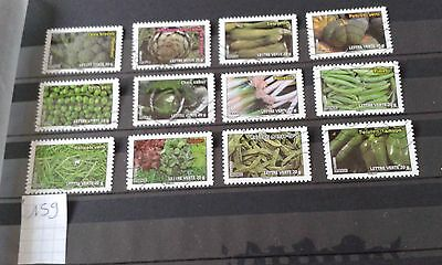 12 Timbres Obliteres Lot 159