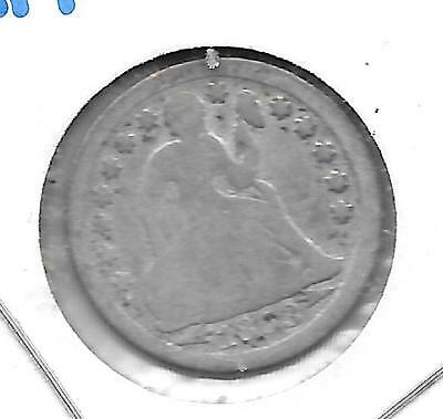1853 With Arrows at Date, Seated Liberty Dime.