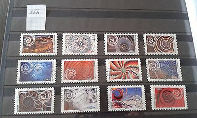 12  Timbres Obliteres Lot 166