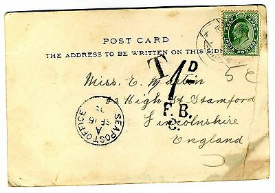 Bombay,used postcard 1905 with Sea post office mark.