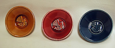 3 Vintage 1950's Air France Butter Nut Dishes Ashtrays Art Deco Winged Horse