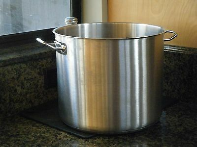 Crestware stainless 20-quart stock pot, no lid.