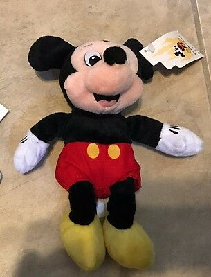 """Mickey Mouse Official Disney Parks Mini Bean Bag Plush Toy NEW with Tag 8"""""""