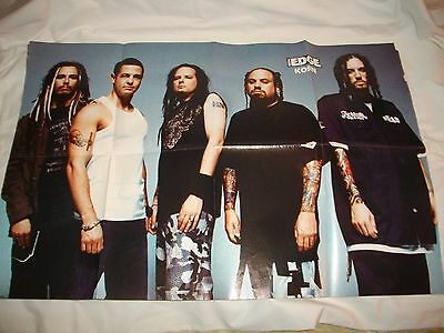 1990's Metal Edge Korn Head Munky Fieldy Huge Pull Out Poster New And Unused!