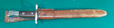 Ross Rifle Chromed Bayonet and Scabbard. Bayonet 1915 with C-  Scabbard 1914