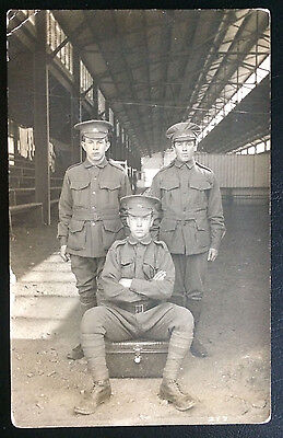 Postcard WW1 RPPC Australian soldiers Military unposted
