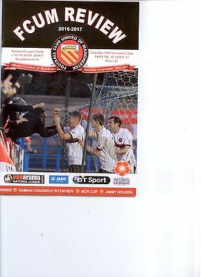 2016/17 FC UNITED OF MANCHESTER v NUNEATON TOWN