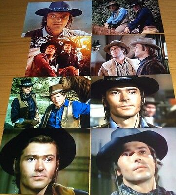 """Set 5 - 8 """"5 By 7""""  Pete Duel (Alias Smith and Jones ) Photographs."""