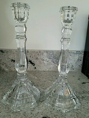 Tiffany and Co. crystal candlesticks