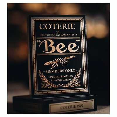 Bee Gold Coterie Magic Limited Custom Poker Playing Cards Private Members Club L