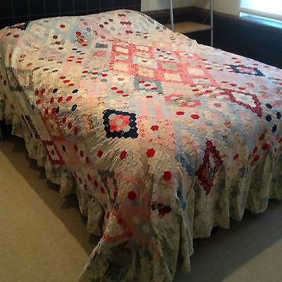 Victorian Patchwork Cover / Bedspread