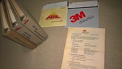 """MS-DOS 2.0 (C) 1982 APC / NEC 8"""" inch Floppy Disks & Ring Binder Manuals/Guides"""