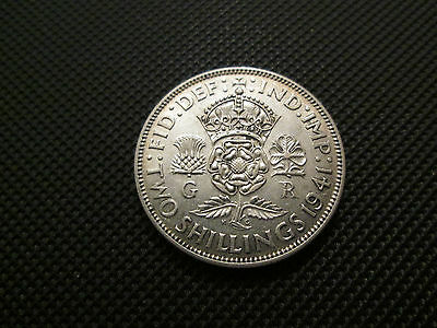 1941 George Vi Florin/two Shillings