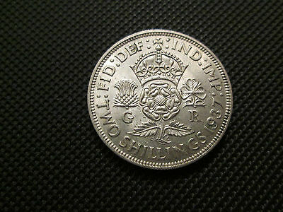 1937 George Vi Florin/two Shillings
