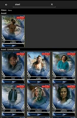 Topps Fear the Walking Dead Card Trader complete blue steel set with Alicia card