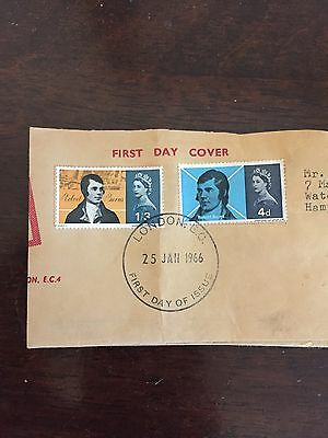 Gb Stamps First Day Cover Robert Burns