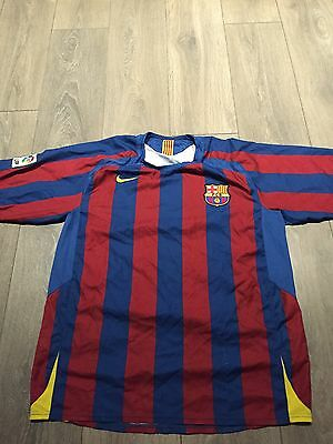 Barcelona Home Shirt 2005/06 Large Rare And Vintage