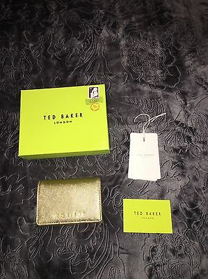 Ted Baker Gold 'Carley' Crosshatch Small Purse