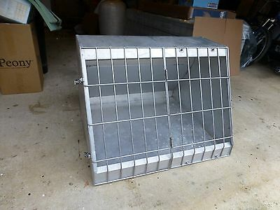 Aluminium  Dog Pet Cage Transport Car Vehicle-Animal Travel Carrier Portable