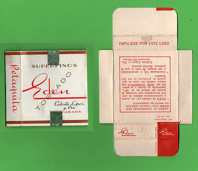 Old EMPTY cigarette pack Caribbean  packet +slide + tax stamp