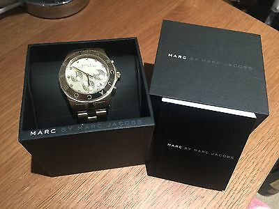 Marc Jacobs Ladies Gold Blade Chronograph Wrist Watch