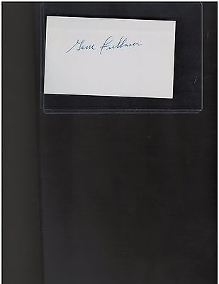 Gene Fullmer Middleweight Boxing Champion Autographed 3 x 5 Index Card