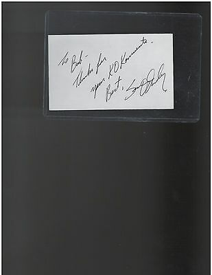 Sean O'Grady Lightweight Boxing Champion Autographed 3 x 5 Index Card
